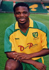 Former Norwich striker Zema Abbey  also played for Forest Green